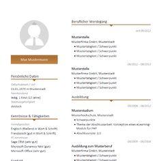 moderne lebenslauf vorlage mit braunen farbakzenten modern cv resume template - Formatvorlage Lebenslauf