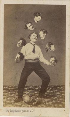 Manipulação de Imagens 100 anos antes do Photoshop -- foto de 1880 [pic]