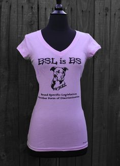 Pit-Bull Shirt Lavender - BSL is BS - Size Small left