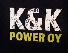 Logo for K&K POWER printed to a shirt. Design by Laura Paasivirta Logo Design, Graphic Design, How To Make Logo, Lime, My Arts, Printed, Logos, Shirt, Black