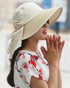 e1ab903b UV Sun hats women summer hats Sun (Beige) at Amazon Women's Clothing store: