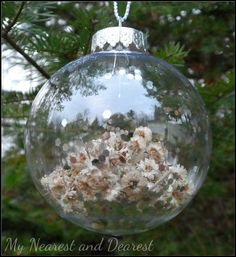 DIY ornaments using things from nature. My Nearest and Dearest blog.