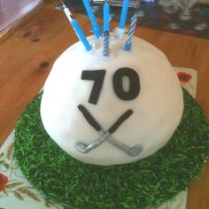Golf ball cake for Dad's 70th birthday.