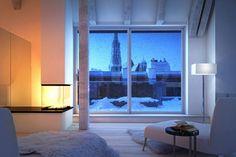 Rendering of interior architecture in Vienna. 3d Visualization, Luxury Living, Vienna, Interior Architecture, Windows, Home, Architecture Interior Design, Interior Designing, Ad Home