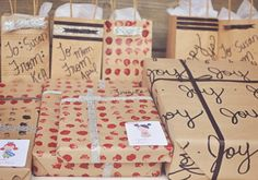 DIY Christmas Wrapping Paper and Gift Bags