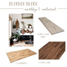 Butcher-block countertops are such a fun and reasonable option for your kitchen! #butcherblock