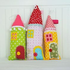 mommo design - LITTLE HOUSES - pillows