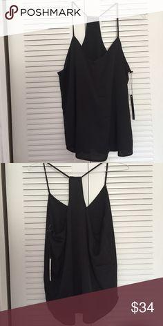 Harvé Benard Black Top Brand new, never used Harvé Benard black top. Comes with tags. 100% Polyester fabric. Harve Benard Tops Tank Tops
