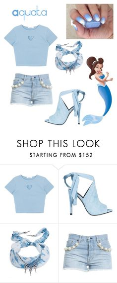 """""""Aquata"""" by the-disney-is-strong-with-me ❤ liked on Polyvore featuring Kendall + Kylie, DANNIJO, Forte Couture and mermaid"""