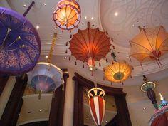 Parasol inspired light fixtures