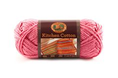 KITCHEN COTTON- BUBBLE GUM - Made in the USA, this classic worsted-weight cotton is perfect for kitchen items and bath accessories. Its bright, retro-inspired palette is ideal for stripes, ripples, and colorwork projects. The smaller size of the skeins means that you can mix and match your own color palette affordably.