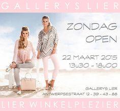 >> L I E R W I N K E L P L E Z I E R ! Ladies, zondag 22 maart 2015 zijn alle winkels in @Lier open! #Sunnyday #Shop #Clothes #Opendeurdag