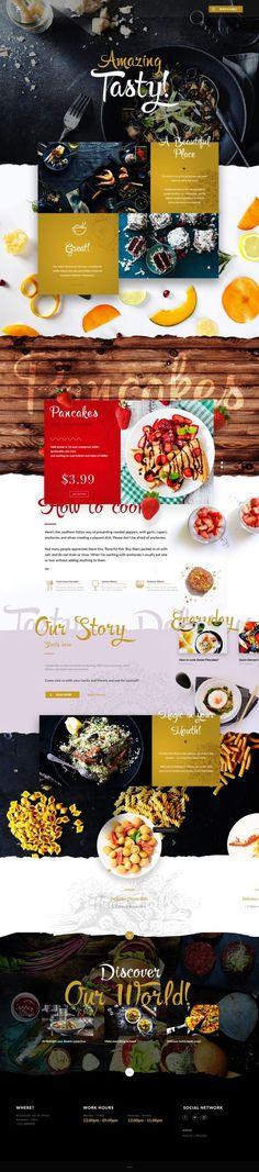Food Restaurant by Vitali Zakharoff. Design inspiration for a restaurant site or food blog.