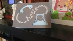 My first project with my cricut explore air I got for Christmas.