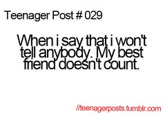 Because it's my best friend!! Duh!!