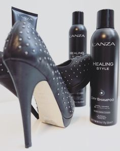 Stunning stilettos are the perfect accessory to match your fierce hairstyle. Don't forget to apply our Healing Style Dry Shampoo before going out to keep your hair feeling fresh all night long! Photo by Dry Shampoo, Stilettos, Don't Forget, Your Hair, Going Out, Hair Care, How To Apply, Healing, Hairstyle
