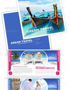 Travel  Tour Trifold Brochure And F By Fatihakdemir On