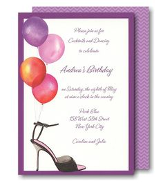 21st Birthday Party Invitations girls night out