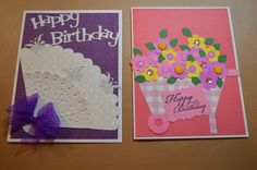 Birthday cards for 2015 using die cuts from Sizzix.