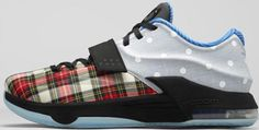 Nike KD VII EXT Plaid QS University Red/Black-White Release 12th May