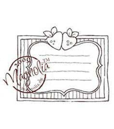 """A Little Yummy For Your Tummy Cling Stamp 6.5""""X3.5"""" Package-Fruit Label"""