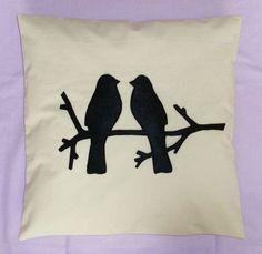 love birds silhouettes | cute pillow - love birds in tree silhouette - Google Search