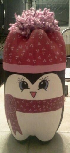 My version of Christmas penguin made of recycled pop bottle
