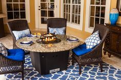 Our most popular table, the Naples 54'' round fire table by Firetainment is ideal for for cooking, dining and entertaining guests. #firetainment