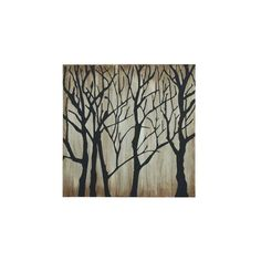 Enterprises Winter Trees Silhouette 47-inch x 47-inch Gallery-wrapped Canvas Art