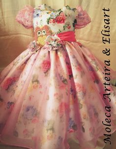 Vestido Corujinha de luxo