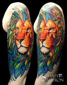 lion tattoo color - Buscar con Google
