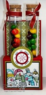 holiday test tube candy holder tutorial
