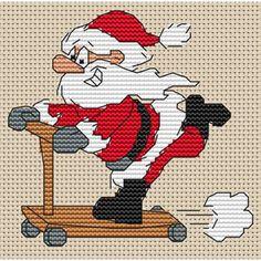 cross stitch santa - Google Search