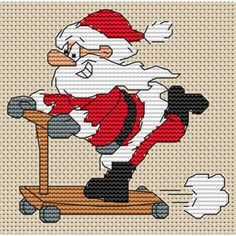 cross stitch santa - Google Search