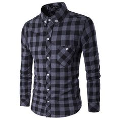 Business Casual Classical Plaids Long Sleeve Slim Fit Dress Shirts ($21) ❤ liked on Polyvore featuring men's fashion, men's clothing, men's shirts, men's casual shirts, shirts, men, tops, mens plaid dress shirts, mens collared shirt and mens slim fit shirts