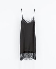 Zara lace black slip-just add booties & jkt