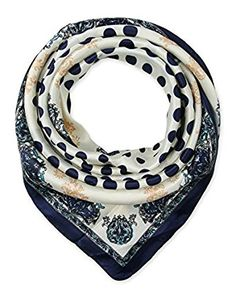 corciova Fashionable Neckerchief Head Scarf for Women 35x35 inches Navy $9.99 Free Shipping