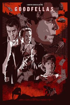 GOODFELLAS NEVER RAT ON A FRIEND. BY THE DARK INKER 6 Colour Screen Print – 3 Metallic Inks. Printed by LastLeaf Printing Private Commission. Inspired by Martin Scorsese's 1990 Film.