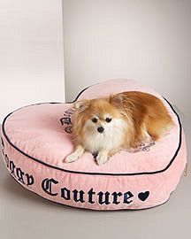 Juicy Couture Heart-Shaped Dog Bed