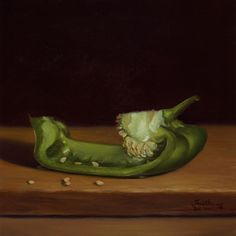 Green Bell Pepper No. 2 - Oil | Available Paintings
