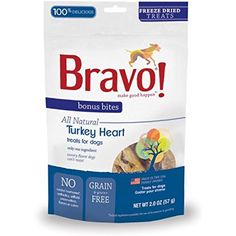 Bravo Bonus Bites Freeze Dried Turkey Heart, 2-Ounce ~~ Do you want additional info? Click on the image. (This is an affiliate link and I receive a commission for the sales)