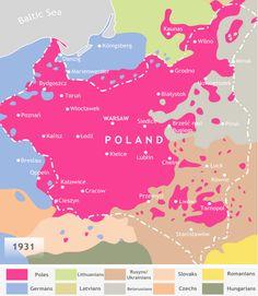Nacionalidades en Polonia, en 1931