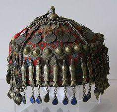 Central Asia   Turkomen wedding headdress