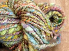 Yarn spun by the spindle