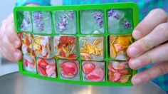 Jazz up your summer drinks with these easy to make floral ice cubes