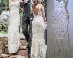 66 Super Ideas For Crochet Dress White Lace Crochet Wedding Dresses, Maxi Dress Wedding, White Wedding Dresses, Lace Dress, White Dress, Formal Dresses For Weddings, Dress Formal, Beige Dresses, Crochet Clothes
