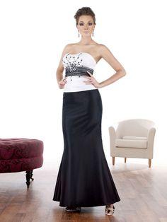Fashionable A-line natural waist taffeta party dress