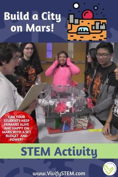 Can you keep a team of colonists alive and happy on Mars? Students work in teams to complete the ultimate project-based learning STEM experience: planning a long-term settlement on Mars! Math Games For Kids, Fun Math Activities, Hands On Activities, Science Topics, Science Experiments, Student Reading, Student Work, Teaching Tips, Learning Resources