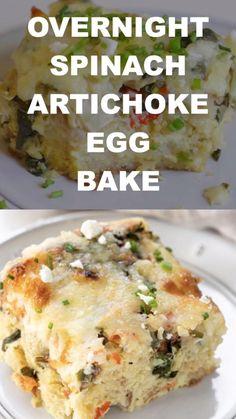 Vegetarian Breakfast, Breakfast Recipes, Good Food, Yummy Food, Yummy Yummy, Healthy Food, Overnight Egg Bake, Egg Recipes, Yummy Recipes