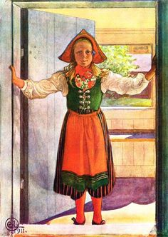 Rosalind, Watercolour by Carl Larsson (1853-1919, Sweden)